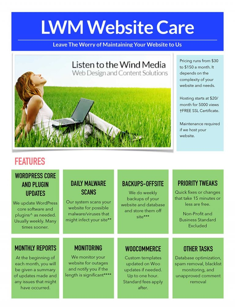 Listen to the Wind Media services and prices